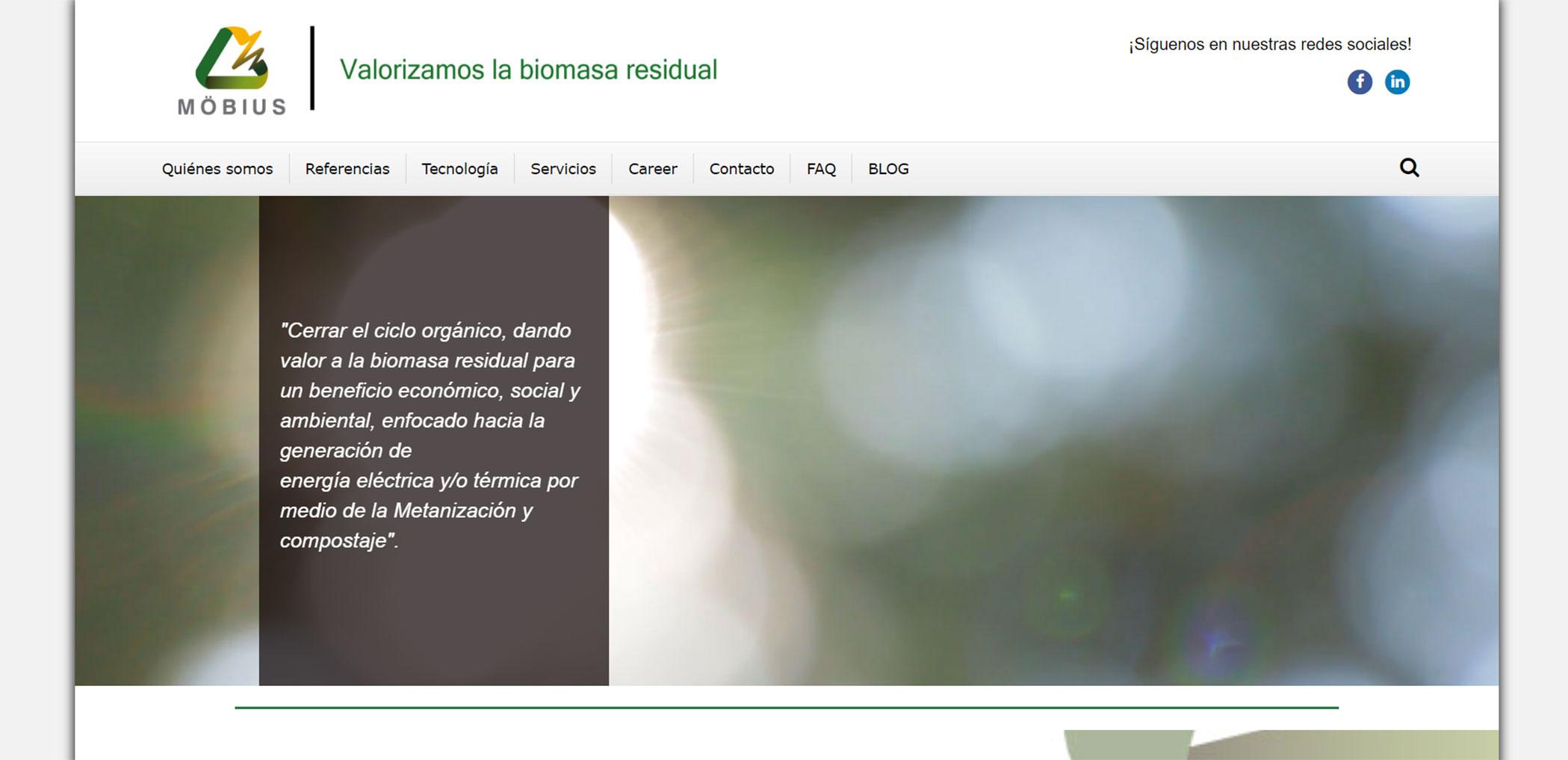 Página web Mobius
