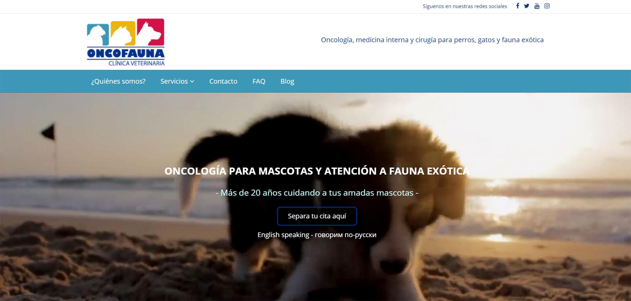 Página web Oncofauna