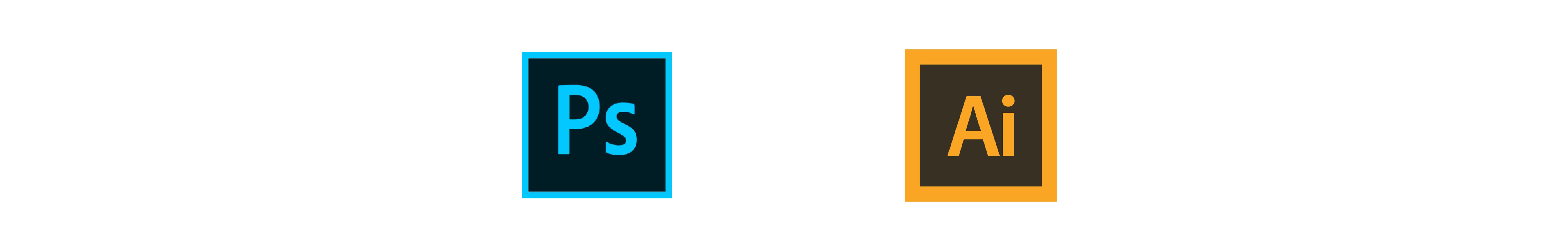 Logo de Photoshop e Illustrator