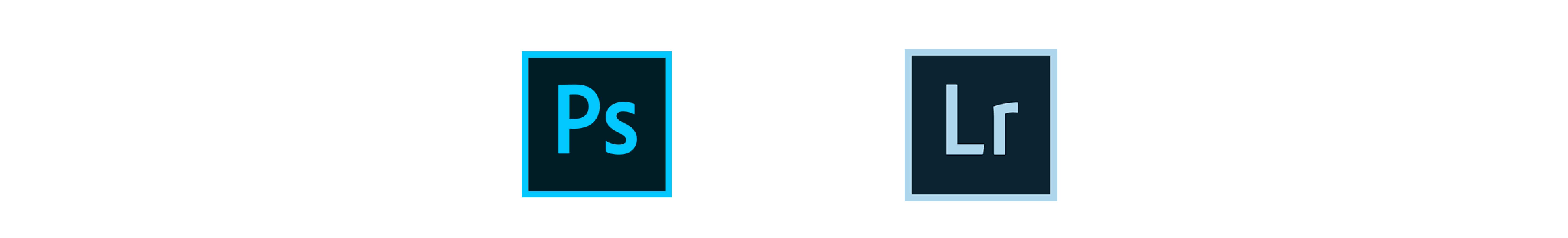 Logos de Photoshop y Lightroom
